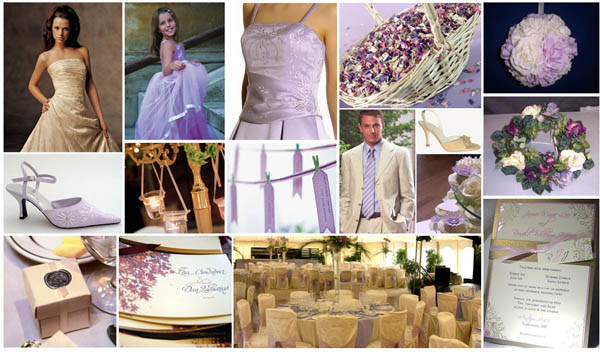 South African Weddings - tan and lilac