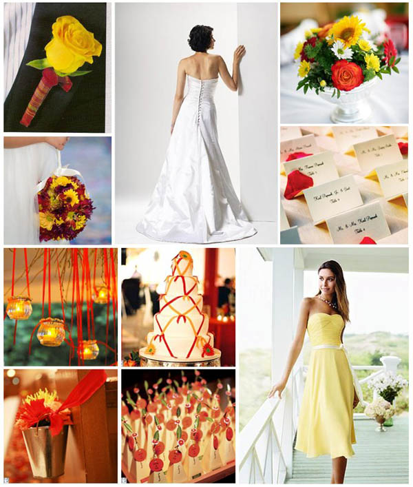 Red And Yellow Wedding Colors