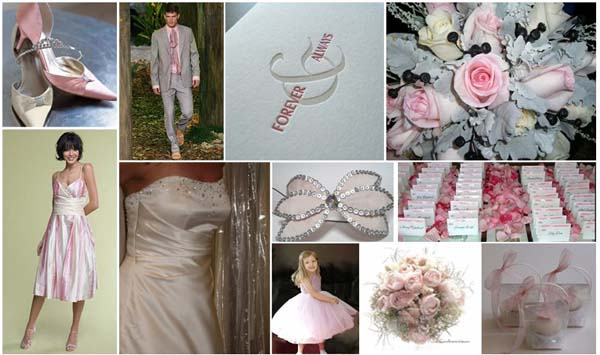 Wedding Colours Pink Grey and Cream Author Carol