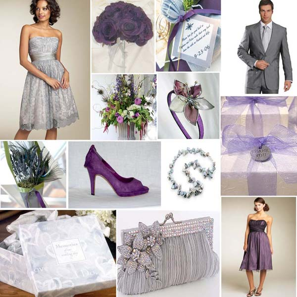 purple and grey wedding colours