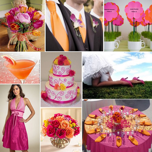 Wedding Colours Fuschia and Orange Author Carol