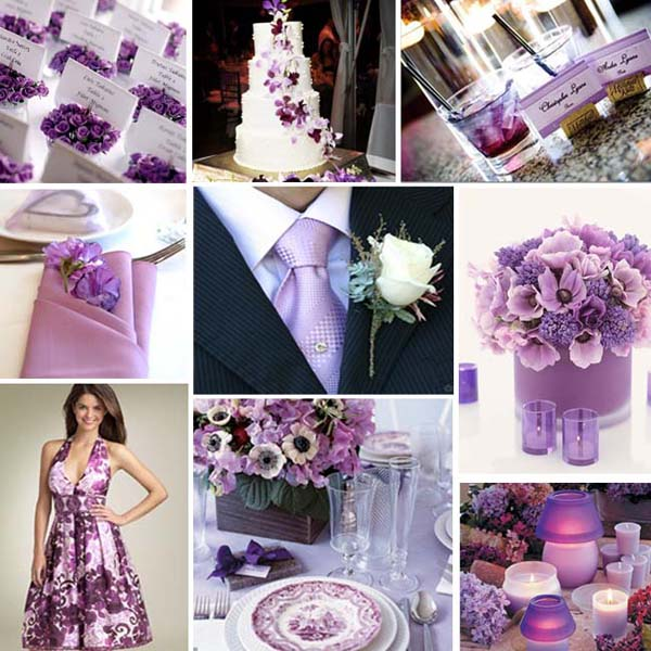 wedding colours purple and lilac primadonna bride purple themed wedding 600x600