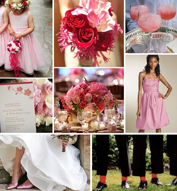 Pink and red wedding inspiration board If you 39ve decided on pink for your