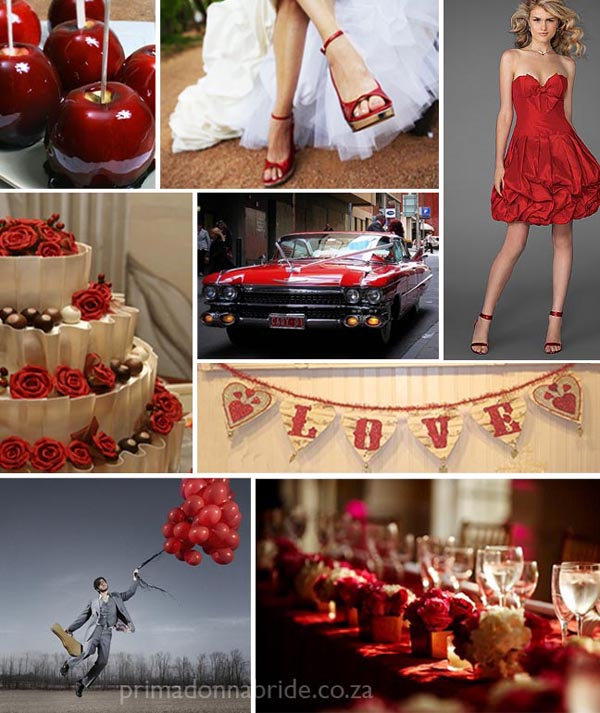 Red Wedding Colours - Primadonnabride.co.za