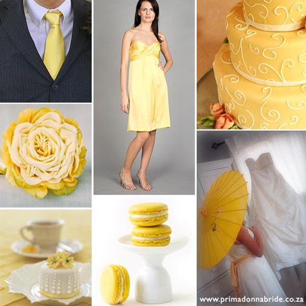 Yellowand white wedding colours - primadonnabride