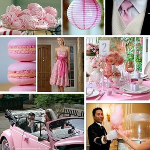 bubblegum pink wedding inspiration board