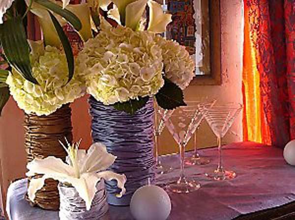 diy fabric vase - Primadonna Bride
