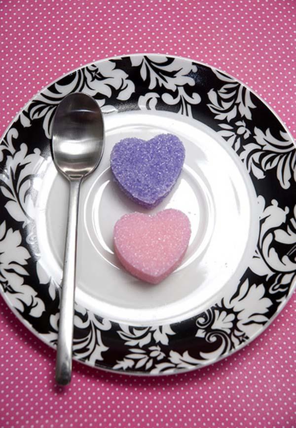 Primadonnabride - Heart shaped sugar cubes