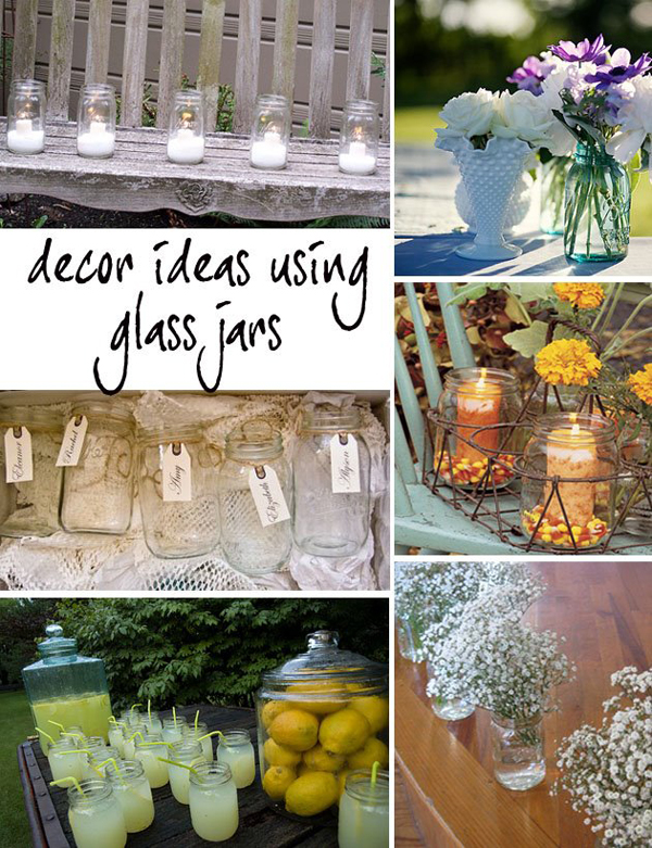 Glass Jar Wedding Decor - Primadonna Bride