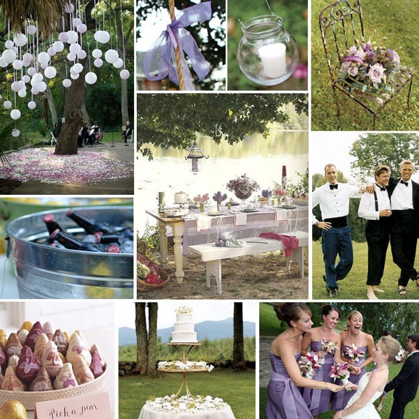 Summer garden wedding in lilac and pink primadonna bride - Garden wedding ideas decorations ...