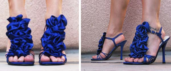 ruffles for wedding shoes  - Primadonnabride.co.za