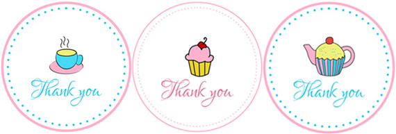 Tea Party printables - thank you tags - primadonnabride
