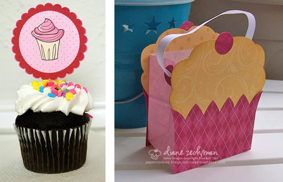 Whimsical  Tea party Printables - cupcake tag and cupcake bag = primadonnabride