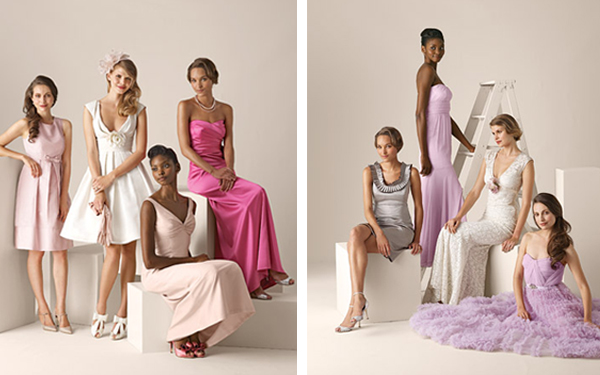 primadonnabride  - bridesmaids in different dresses