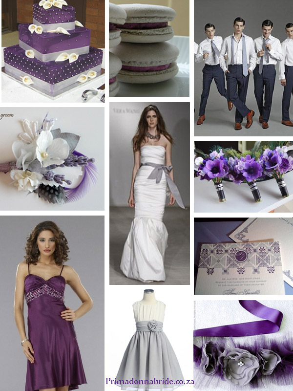 Purple and grey Wedding Colours - Primadonnabride.co.za