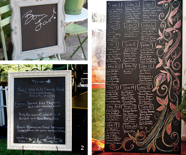blackboard decor primadonna bride