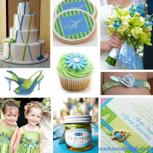 Blue and green wedding colours Author by Carol