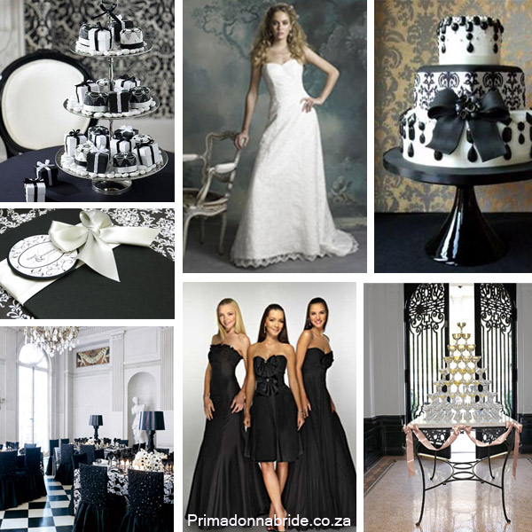 Black and white is always the colour of choice for an elegant wedding