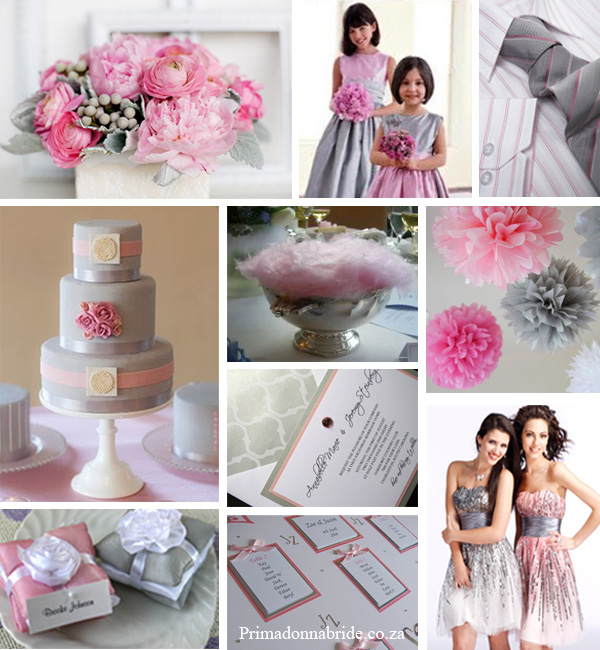 Wedding Colours Pink And Grey Primadonna Bride