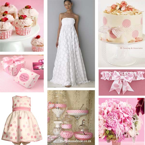 Wedding Colours Polka Dot Pink