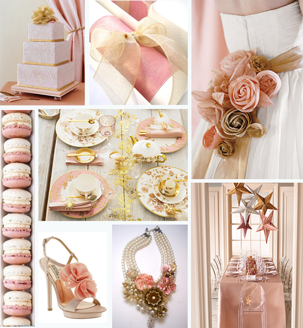 Pink and Gold Wedding Colours Pink and gold is such a gracious and delicate