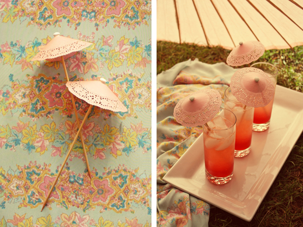 Cocktail drinks umbrella DIY