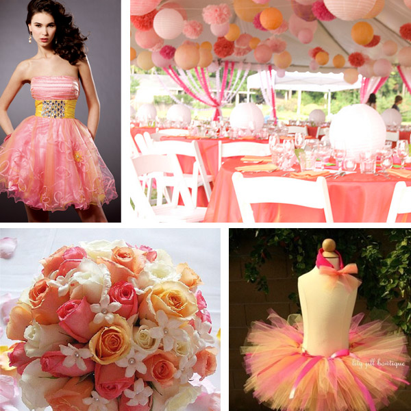 Peach And Yellow Wedding Colours