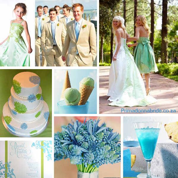Blue and Green Wedding Colours