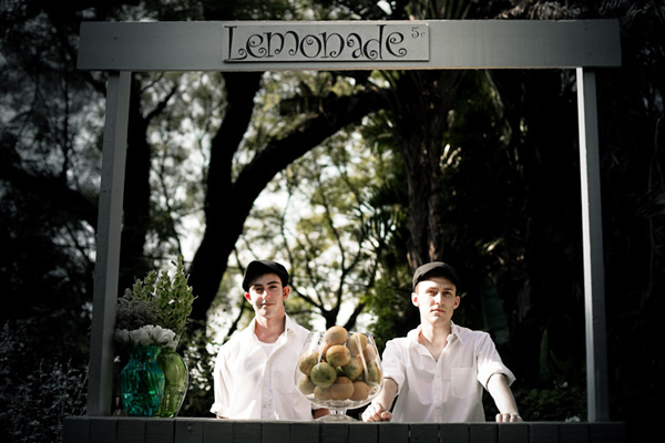 Lemonafe stand - Louisa and Eitzaz