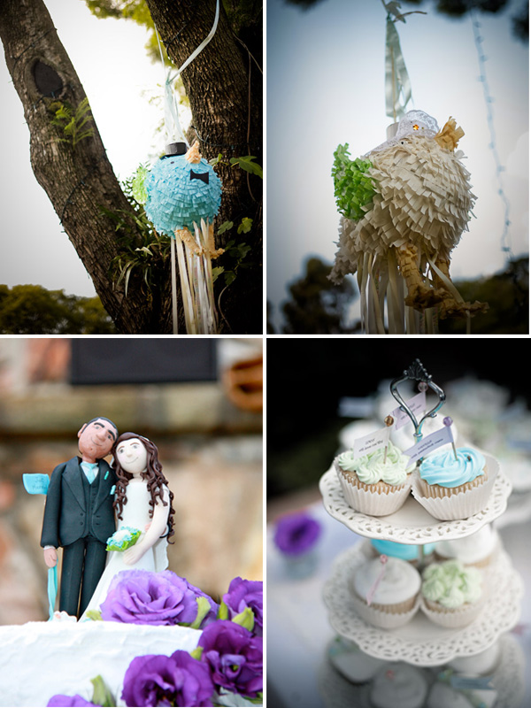 Wedding Decor cake topper and cupcakes