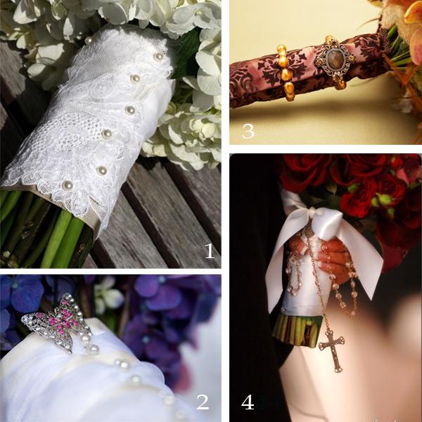 Pretty bouquet handles