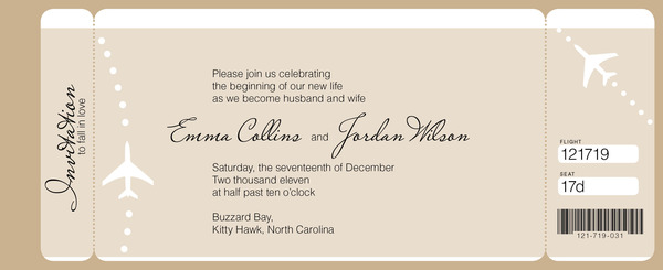Magnetstreet Wedding invitation