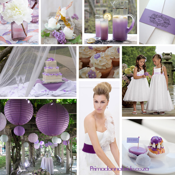 Shades of purple wedding colours Image credits Flower vase lemonade