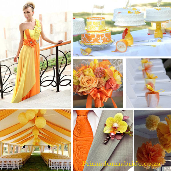 Wedding Colours: Orange and Lemon - Primadonna Bride