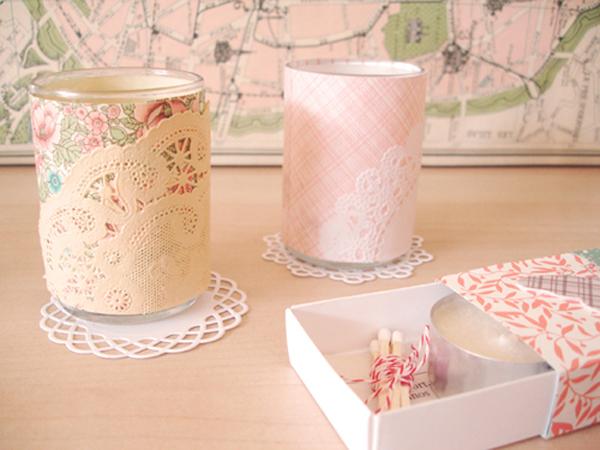 Lace tealight votive