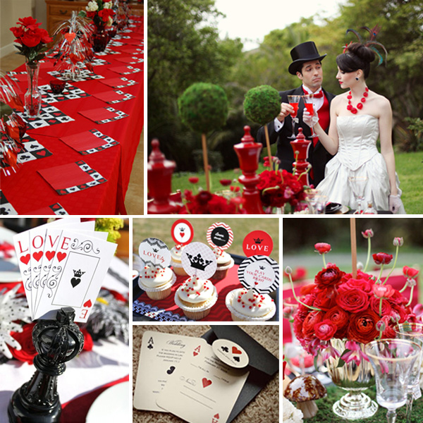 Credits Table Setting Bride and groom cupcakes invitations flowers
