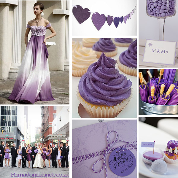 Wedding Colours Purple White And Silver
