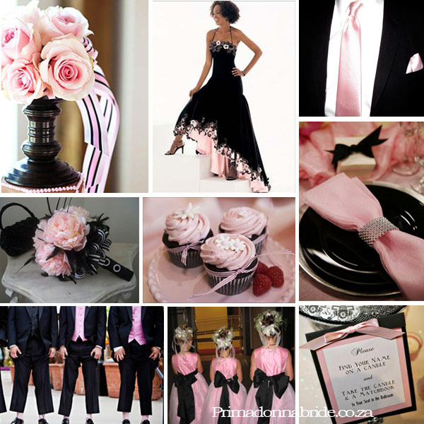 Wedding Colours Pale Pink and Black