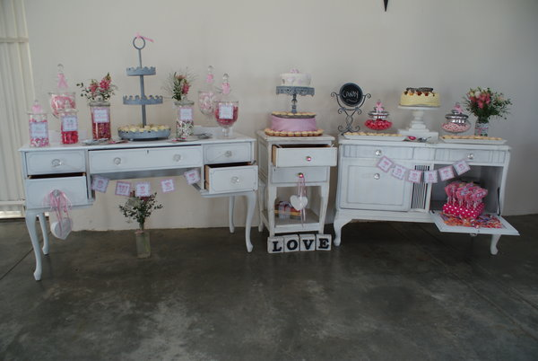 Quirky Parties candy buffet / Vintage decor hire Cape Town