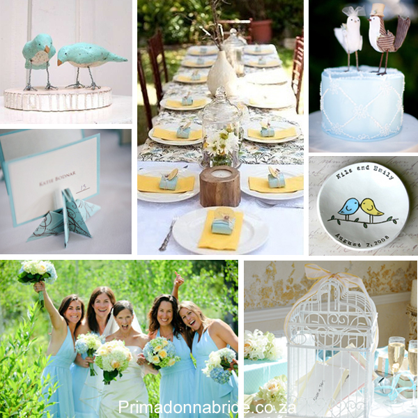 Love birds wedding theme