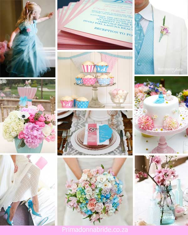 Wedding Ideas: Light Pink and Light Blue