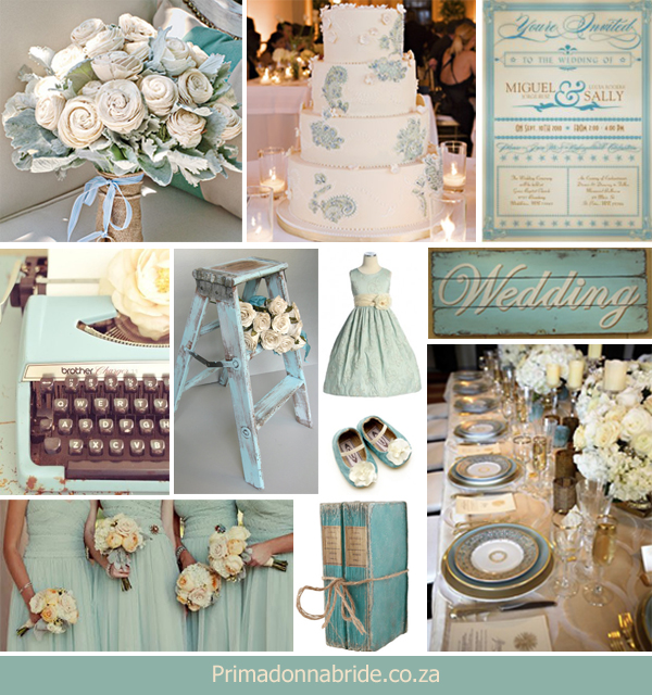 Wedding colours: Blue and ivory - Primadonna Bride