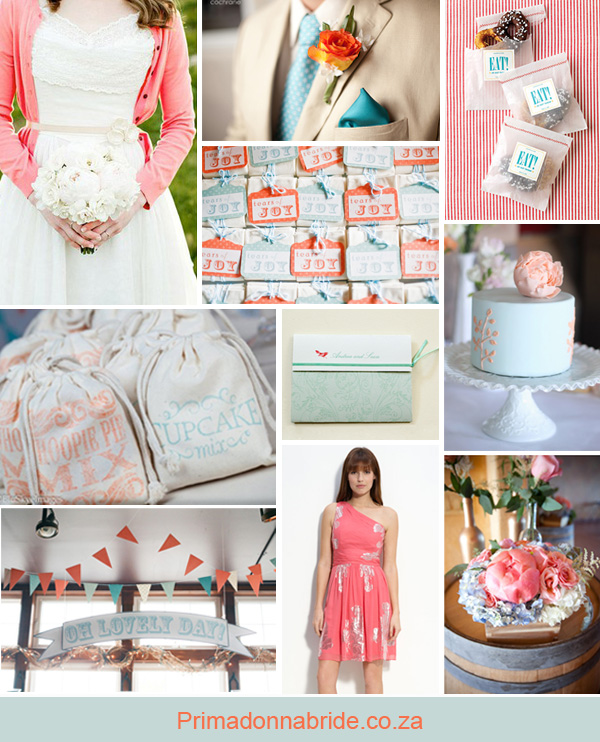 Coral and aqua wedding inspiration