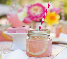 Glass jars at weddings