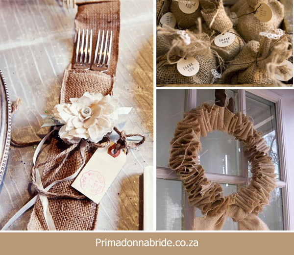 Wall Colour Inspiration: Wedding Ideas: In Love With Hessian