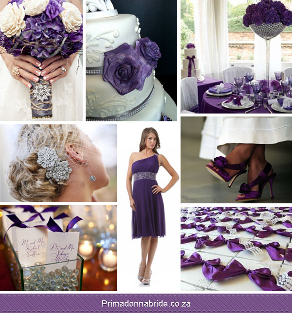 Wedding colours purple white and silver primadonna bride purple white silver wedding colours junglespirit Image collections