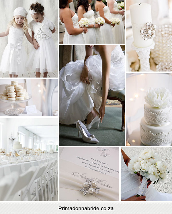 All white wedding