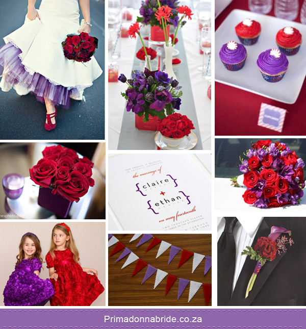 Wedding Colours: Purple and Red - Primadonna Bride