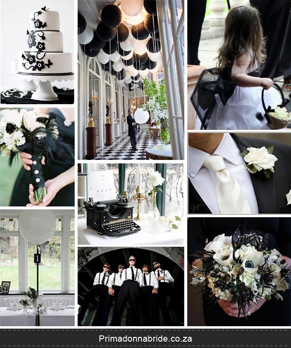 Black and white elegant wedding