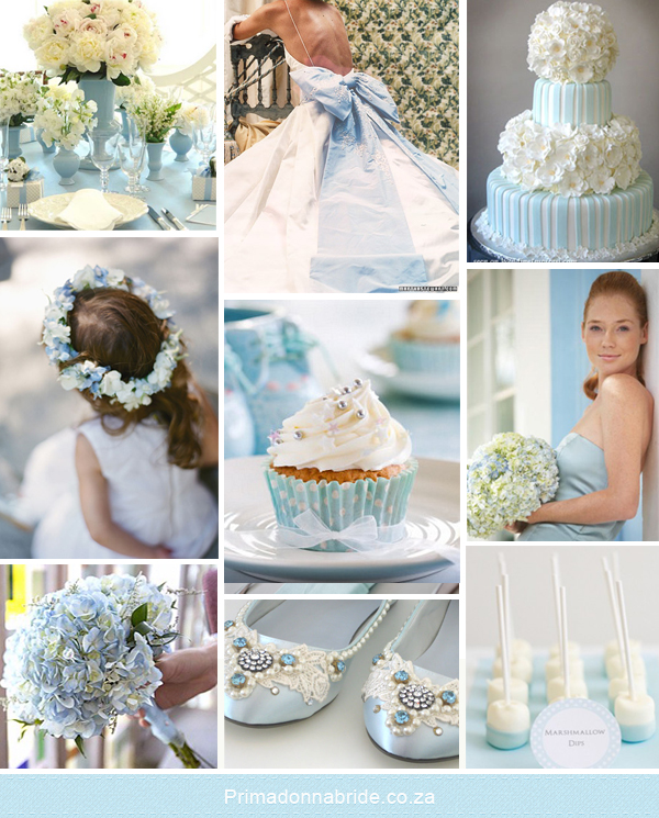 Pale blue and white wedding colours